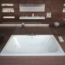 "Dominica Dream Suite 60"" x 40"" Rectangular Air & Whirlpool Jetted Bathtub"