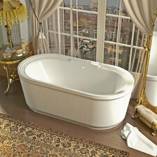 "Royal 66.87"" x 33.62"" Oval Freestanding Soaker Bathtub with Center Drain"