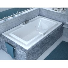 "Barbados 78"" x 45"" Endless Flow Air & Whirlpool Jetted Bathtub with Center Drain"