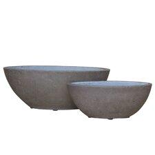 2 Piece Oval Pot Planter Set