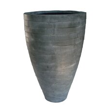 Metal Oval Tall Vase