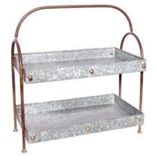 Double Galvanized Tray with Handle