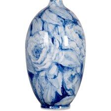 Ceramic Hand Painted Tall Peony Vase