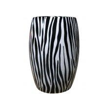 Zebra Ceramic Stool
