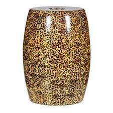 Cheetah Ceramic Stool