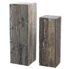2 Piece Decorative Pillar Set