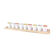 Votive with Tray (Set of 9)