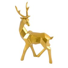 Head Back Deer Figurine