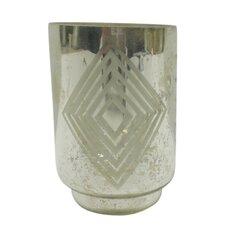 Small Square Diamond Frost Hurricane/Vase (Set of 4)