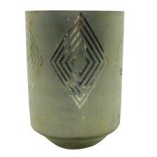 Large Square Diamond Frost Hurricane/Vase