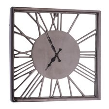 Fall Aluminum Relief Numeral Clock