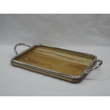Wood and Steel Serving Tray