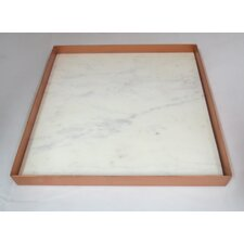 Marble and Metal Rectangle Serving Tray