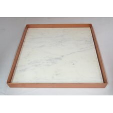 Marble And Metal Square Serving Tray