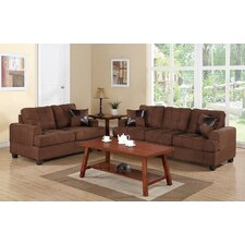 Bobkona Arcadia Sofa and Loveseat Set
