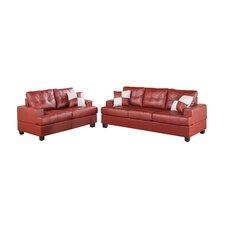 Bobkona Sherman Sofa and Loveseat Set