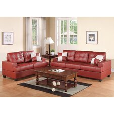 Bobkona Sherman Sofa and Loveseat Set