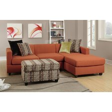 Bobkona Dayton Reversible Chaise Sectional