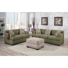 Bobkona Baldwin Sofa and Loveseat Set