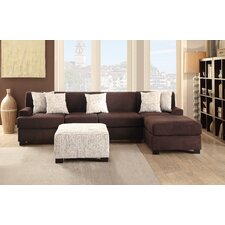 Bobkona Hudson Reversible Chaise Sectional