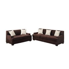 Bobkona Barrie Sofa and Loveseat Set