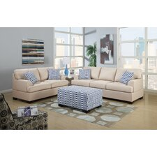 Bobkona Montega Microfiber Sofa and Loveseat Set