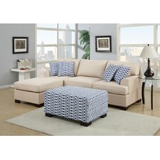Bobkona Roman Reversible Chaise Sectional