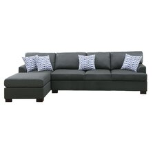 Bobkona Cayden Reversible Chaise Sectional