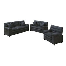 Bobkona Colona 3 Piece Living Room Set