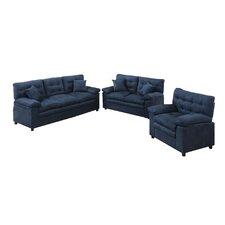 Bobkona Colona 3 Piece Living Room Set