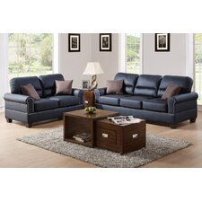 Bobkona Shelton 2 Piece Sofa and Loveseat Set