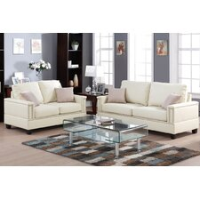 Bobkona Norris 2 Piece Sofa and Loveseat Set