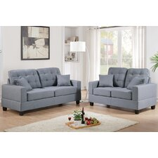 Bobkona Aria Sofa and Loveseat Set