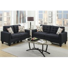 Bobkona Windsor 2 Piece Sofa and Loveseat Set