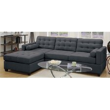 Bobkona Hardin Reversible Chaise Sectional