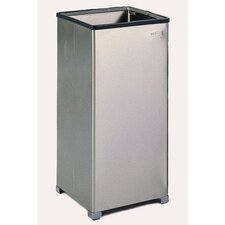 24-Gal Open Top Stainless Steel Receptacle with Poly Bag Retainer Band