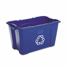 18-Gal Stacking Curbside Recycling Bin