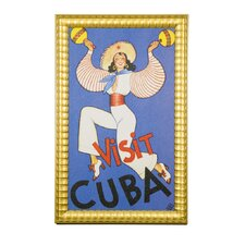 Cultural Authenticity Visit Cuba Framed Vintage Advertisement