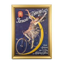 Moon Rider Clement Cycles Framed Vintage Advertisement