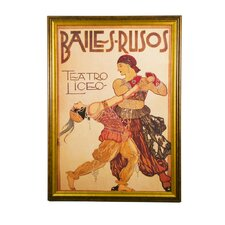 The Dance Bailes Rusos Vintage Advertisement