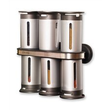 Zero Gravity Wall Mounted Magnetic 7-Piece Spice Tower Set
