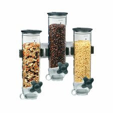 13 Oz. Triple Canister Smart Space Dry Food Dispenser