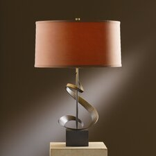 "Gallery Spiral 22.9"" H Table Lamp with Drum Shade"