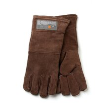 Leather Grill Glove in Brown