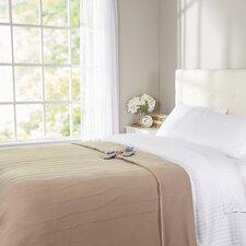 Quilted Fleece Heated Blanket