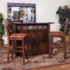 Santa Fe Bar Set with Wine Storage
