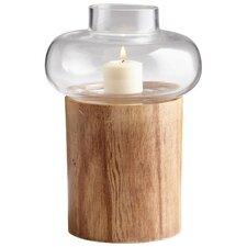 Kalliope Glass and Wood Hurricane