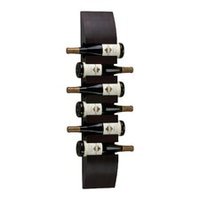 6 Bottle Wall Mounted Wine Rack