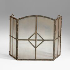 Lincoln 3 Panel Iron Fireplace Screen