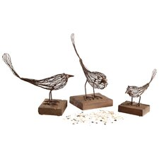 Small Birdy Sculpture in Rustic